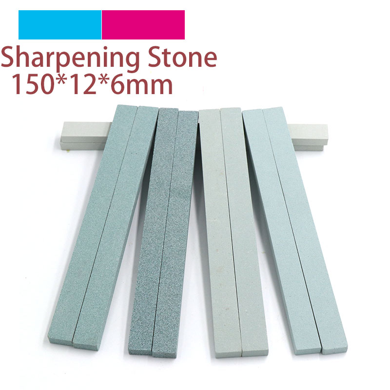 1pc 150x12x6 Knife Sharpener Sharpening Stone 80 To 1200 Grit Green Silicone Carbide Oil Stone Fine Polish Grinding Jade Ceramic