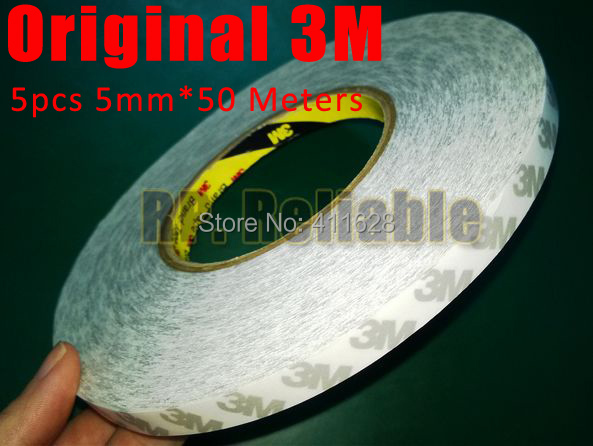 Wholesale! 5x 5mm*50M 3M 9080 Double Sides Sticky Tape for LED Strip, Phone  LCD Touch Display Screen Panel Adhesive Free Ship wholesale 5x 5mm 50m 3m 9080 double sides sticky tape for led strip phone lcd touch display screen panel adhesive free ship