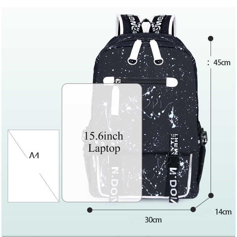 Multifungsi Tas Sekolah untuk Anak Laki-laki Anak Tahan Air Anak-anak Mahasiswa Ransel Multipocket Pria Bahu Tas Anak Sekolah