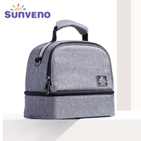 SUNVENO New Thermal Insulation Bag Baby Feeding Bottle Cooler Bags Lunch Box Baby Care Mother & Kids
