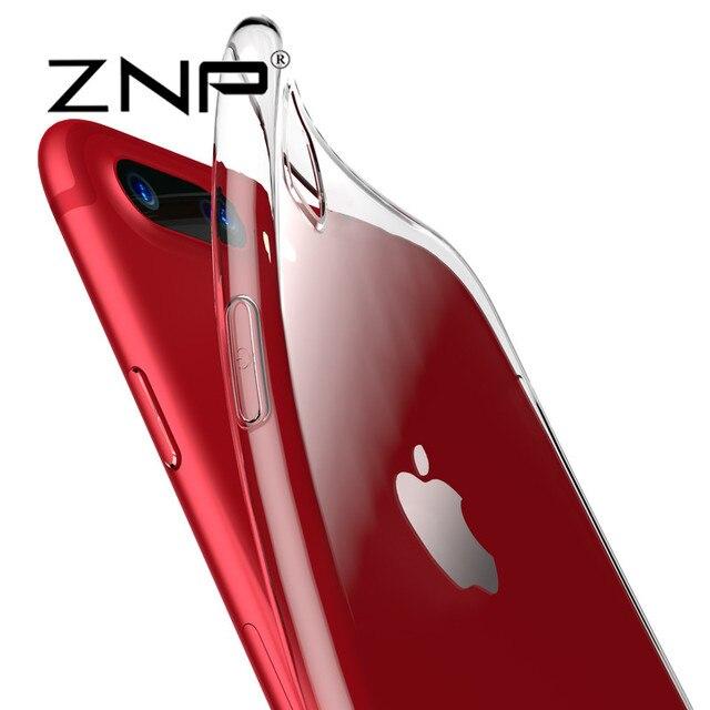 ZNP Прозрачный Чехол Для iphone 7 7 плюс Ультра Тонкий Ясно Мягкий ТПУ Силиконовые Чехлы чехол Для iphone 7 plus Case Коке Fundas p30