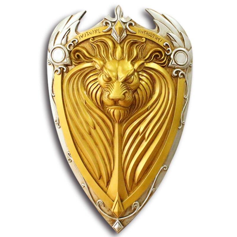[Meilleur] 1:1 échelle 61 cm simulation WOW roi Llane Lion bouclier résine armes modèle adulte enfants cosplay jouets collection cadeau
