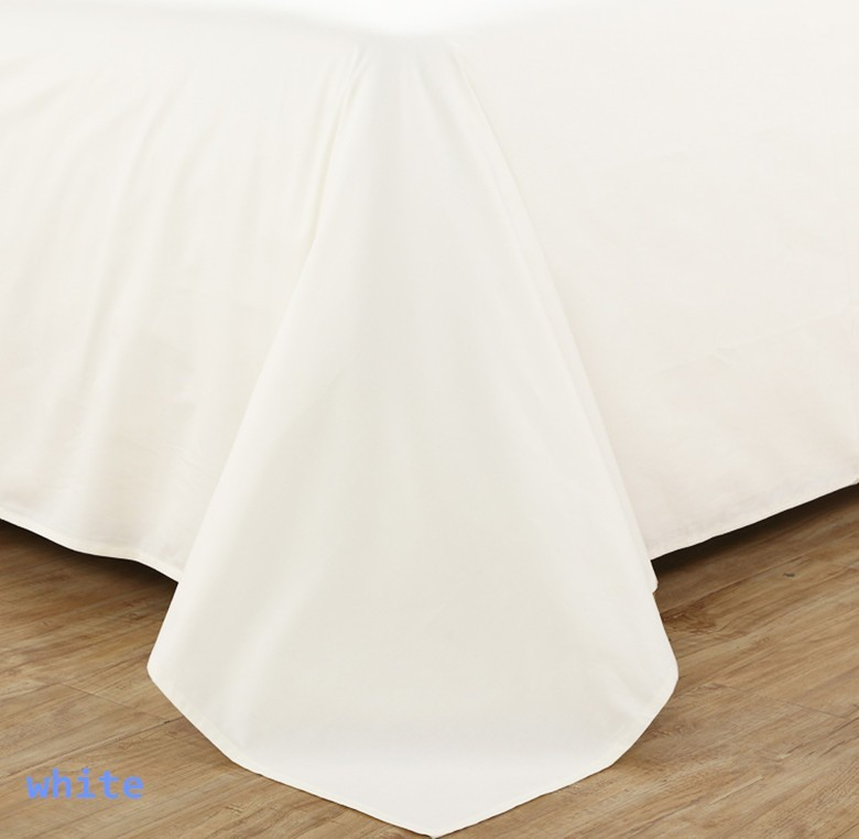 100 egyptian cotton tc bedding set super king size 260 x 300 cm flat sheet white color customize - 100 Egyptian Cotton Sheets