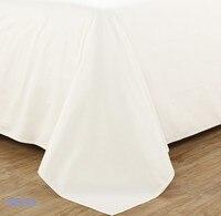 100% zestaw pościel Z Egipskiej bawełny 1200 TC super King size 260x300 cm płaski arkusz biały kolor dostosuj