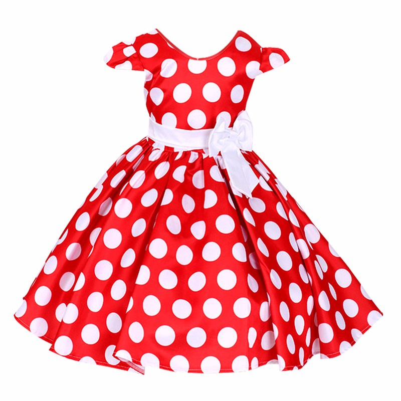 Kids Clothes Girls Dresses Dot tutu baby Girl Princess Dress Halloween Party Costume Children Clothing Children Cosplay Dress halloween cosplay dress black cat girl costume children kids performance clothes girls carnival tutu mesh kitty dress with tail