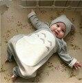 2017 ropa de Recién Nacido ropa de bebé Mono de Las Muchachas Primavera verano Otoño Mameluco infantil de manga Larga 2 estilo