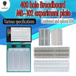 Печатная плата SYB 120 400 500 830 1660 MB102, макетная плата без припоя, универсальный тестовый макет, мини-макетная плата для самостоятельного изготов...