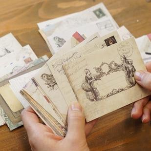 12pcs Mini Envelope Window Envelopes Greeting Card Envelopes For Christmas, Wedding, Birthday Party(12 Different Disign) 72*95mm