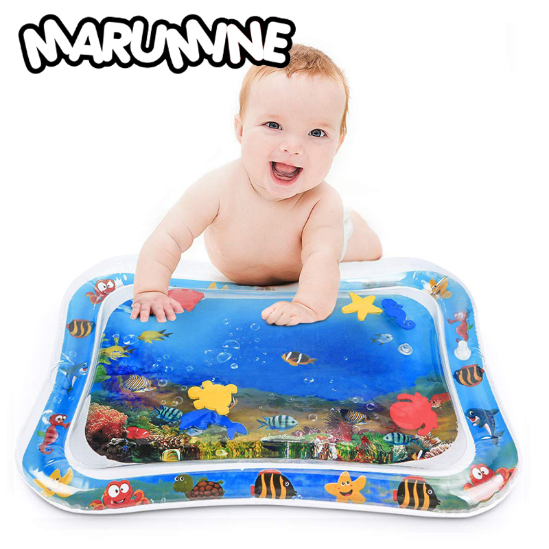 Marumine Baby Water Play Mat Kids Watermat 2-IN-1 Babies Activity Gym Toys Inflatable Creative Carpet Games Mat For Children