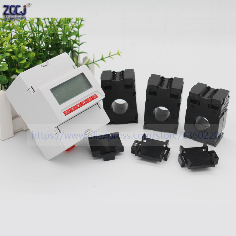 AC 50A 75A 100A 150A 200A 250A din type 3 phase multifunction power meter with RS485