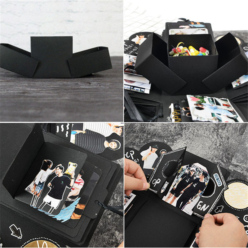 1 conjunto diy explosão caixa de presente surpresa caixa de presente dia dos namorados presente scrapbook álbum de fotos casamento festa de aniversário favores caixas de presente