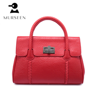 women genuine leather handbags tote designer ladies shoulder bags high quality casual mochila female messenger bags Black Red GY