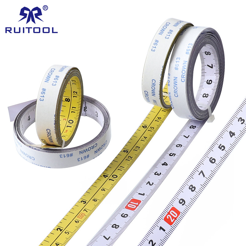 Inch Metric Self Adhesive Tape Measure Steel Miter Saw Scale Miter Track Ruler For Router Table