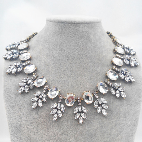 new color shiny choker clear crystal statement necklace women choker necklaces & pendants fashion brand jewelry new design
