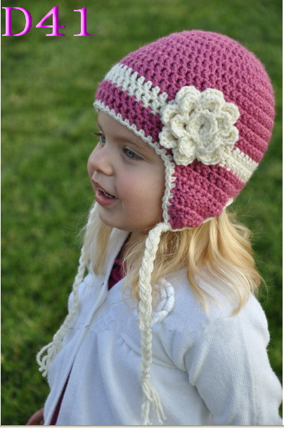 Mädchen Frühling Hut Handmade Baby Mütze Häkeln Blume Beanie Kawaii