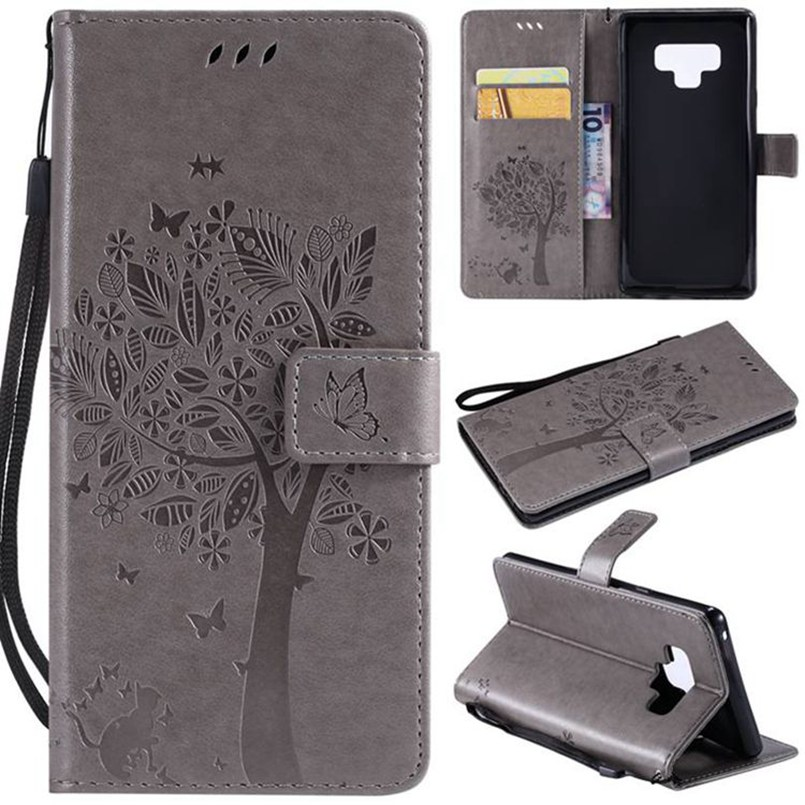 <font><b>Flip</b></font> Leather <font><b>Case</b></font> For <font><b>Samsung</b></font> Galaxy <font><b>note</b></font> 3 <font><b>4</b></font> 5 8 9 C9 pro A20 A30 A50 A40 A70 M30 Relief Wallet Cover Stand Phone <font><b>Case</b></font> image