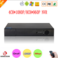 Hi3520D Датчик Xmeye P2P Металлический Корпус 4CH 1080 P Видеонаблюдения рекордер HD Цифровой 8 Канала Onvif NVR 8-КАНАЛЬНЫЙ 960 P Бесплатная доставка