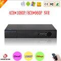Hi3520D Sensor Xmeye Caixa De Metal 4CH P2P 1080 P de Vigilância Por Vídeo gravador de HD Digital 8 Channel 8CH 960 P NVR Onvif Livre grátis