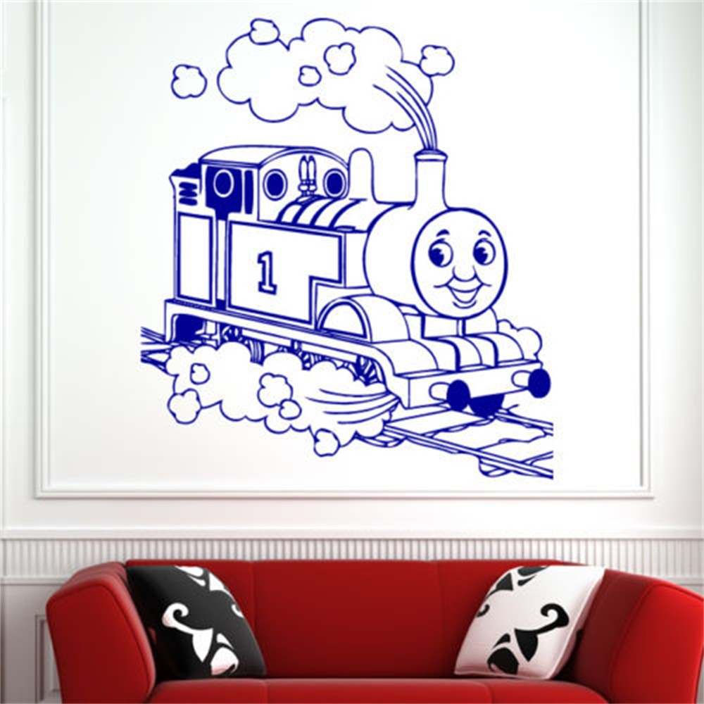 Children Thomas Tank Engine Train Wall Art Sticker Decal Kids Play Room Wall  Decals 5 Sizes In Wall Stickers From Home U0026 Garden On Aliexpress.com |  Alibaba ... Part 62
