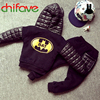 2016 New Autumn Winter Warm Hooded Boys Sets Kids Clothing Pullover Sweater+Pants Suit Sets for Boys and Girls Tracksuit