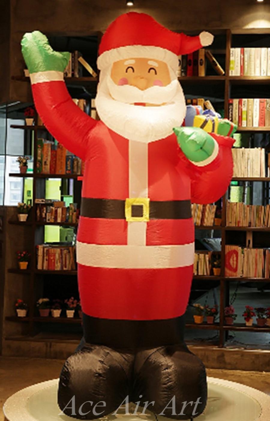 Feliz Navidad decoración inflable Navidad Santa Claus, Navidad inflable Santa Claus - 2