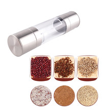 Stainless Steel Silver Sea Salt And Pepper Grinder Mill Mills Grinding Kitchen Mills Powder Press Muller