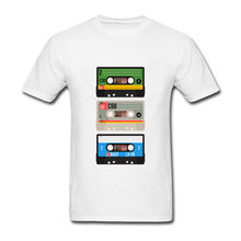 2018 Old School Music Dj Cassette Audio Tape Tops Hipster Tees Funny Graphic Men'S T Shirts Classic Man Crewneck Custom Tee(China)