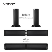 XGODY E6000 TWS Powerful Bluetooth Speaker with Mic Sound Bar Subwoofer for TV Handsfree 3.5mm Aux in TF Card Amplifier Player