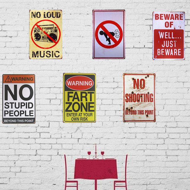 Vintage Metal Tin Signs Warning Posters Home Restaurant Coffee Cafe Decor  Wall Plaques Wall Stickers Decor