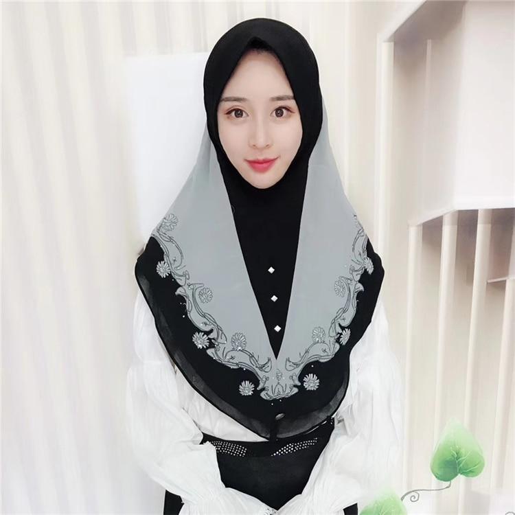 Hijab Scarf  High Quality Women Fashion 2019  Women Winter  Scarves Women 2019  Chiffon Malaysia Hijab Islamic Warp Headband