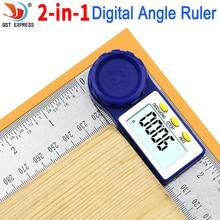 Цифровой угломер 0 200 мм, 8 дюймов, угломер, инклинометр, цифровая линейка, электронный Гониометр, транспортир, угломер, измерительный инструмент
