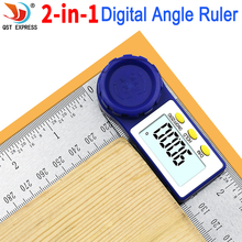 Medidor Digital de ángulo Inclinómetro de 0-200mm 8 ''regla de ángulo Digital goniómetro electrónico buscador del ángulo del transportador herramienta de medición