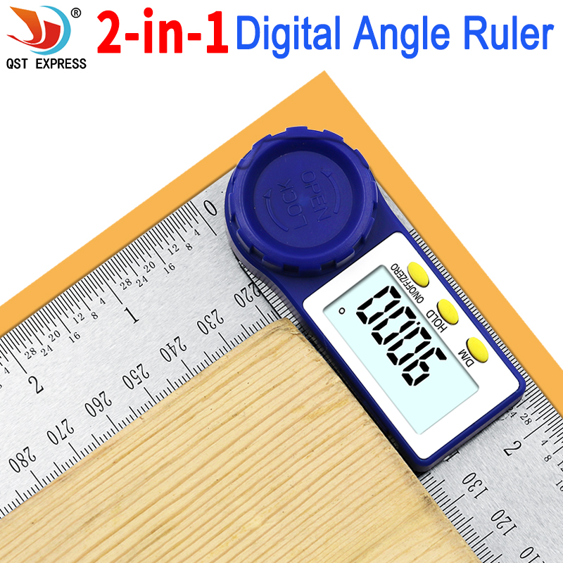 0-200mm 8 ''Digital Meter Angolo Inclinometro Angle Digital Righello Goniometro Goniometro Angle finder Strumento di Misura Elettronico