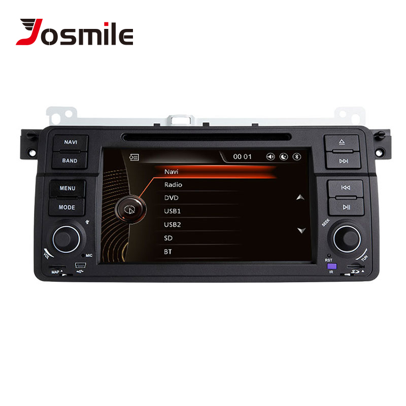 Josmile Car Multimedia Player 1 Din Car Radio For BMW E46 M3 Rover 75 Coupe Navigation GPS DVD 318/320/325/330 Touring Hatchback