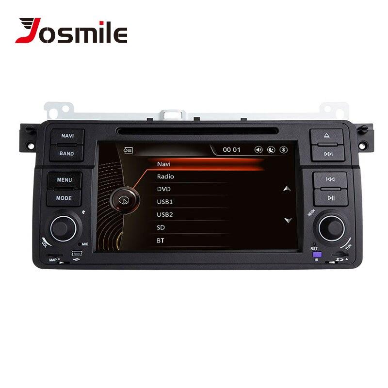 Lecteur multimédia de voiture josourire 1 autoradio Din pour BMW E46 M3 Rover 75 coupé Navigation GPS DVD 318/320/325/330 Hatchback de tourisme