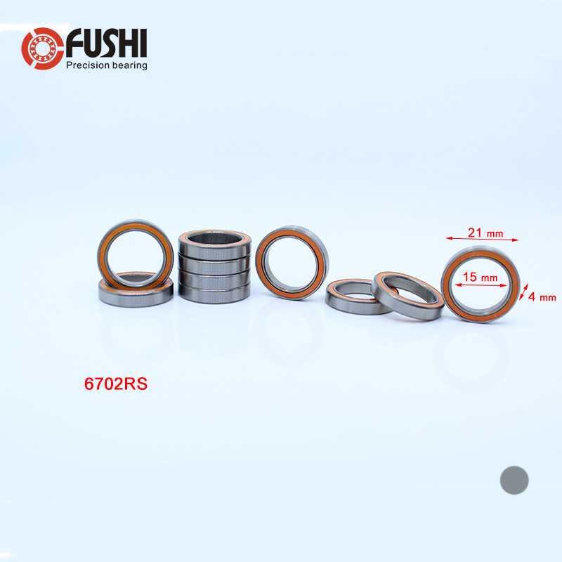 6702RS Bearing ABEC-3 ( 10 PCS ) 15*21*4 mm Thin Section 6702-2RS Ball Bearings 61702 RS 6702 2RS Wi