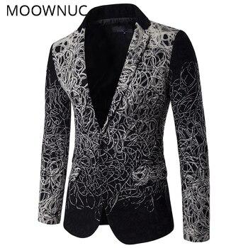 Men's Jackets Masculino Men's Suit Jackets Blazers Hombre Coats Fashion Slim Fit Western Style High-end Smart Casual MOOWNUC MWC
