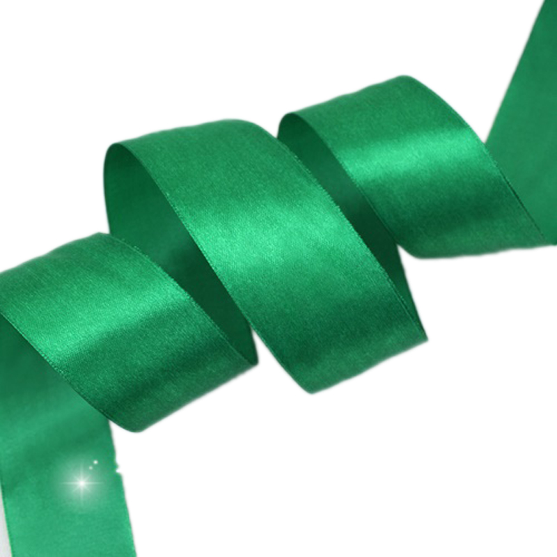(25 ярдов/рулон) 40 мм зеленый Тесьма украшения Один Уход за кожей лица атласная лента Подарочная Рождество Ленты