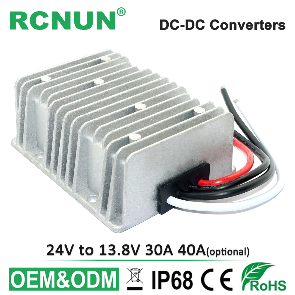 New Waterproof DC//DC Converter Regulator 24V 36V Step Down to 13.8V 25A 345W