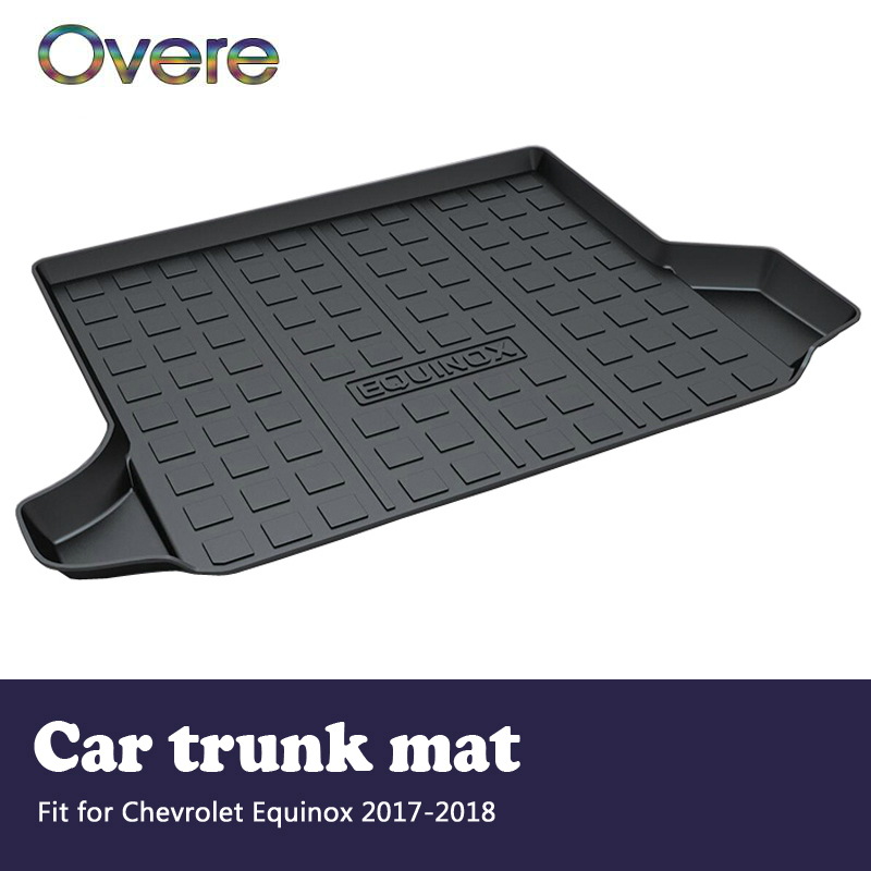 Overe 1Set Car Cargo rear trunk mat For Chevrolet Equinox 2017 2018 Styling Boot Liner Tray Waterproof Anti-slip mat Accessories half round brass ball copper lampshade fabric wire pendant lamp fixture brass lighting led modern style restaurant bedroom light