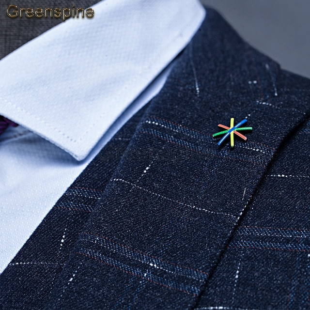 Men's Suit 3 Pieces ( Jacket + Vest + Pants ) Veston Homme Veste Complet Terno Smoking Noivo Mens Suit Jacket Formal Suit  ZM498