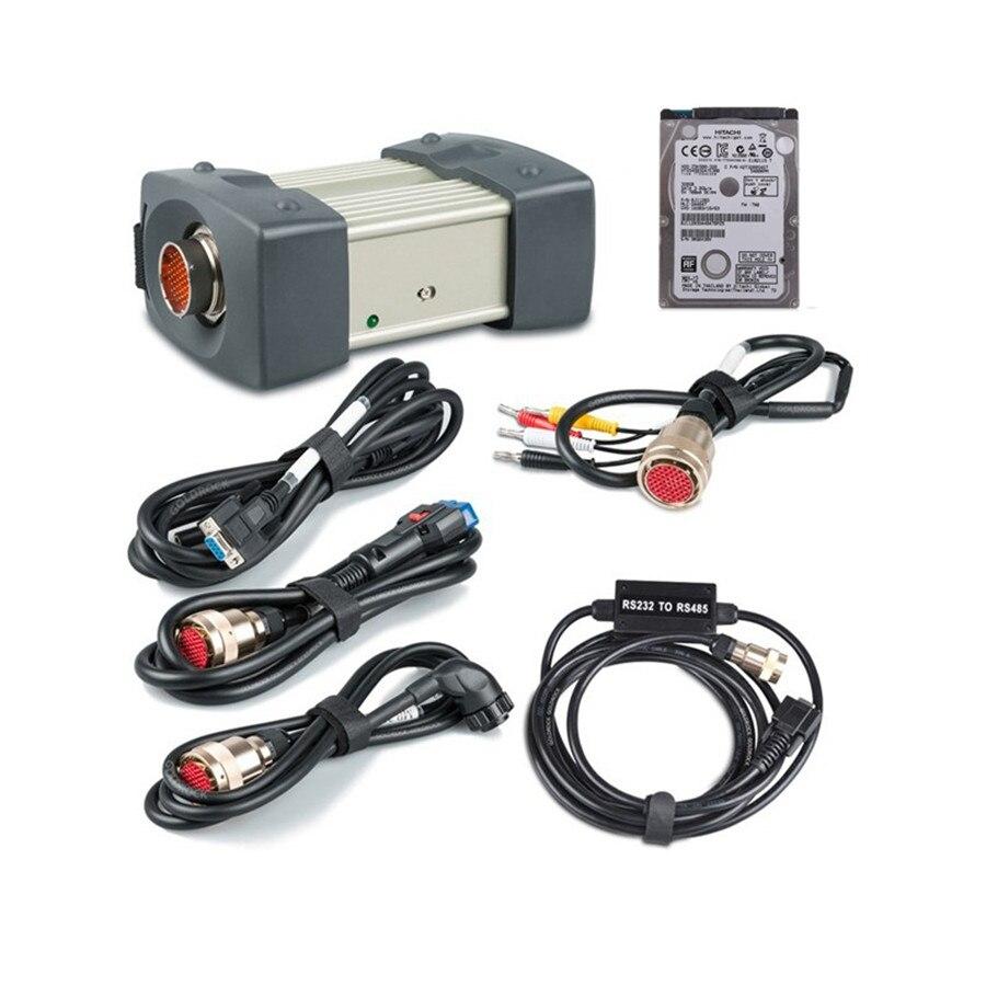 Boa Qualidade MB ESTRELA C3 Multiplexer Interface de Cabos para Carros e Caminhões De Diagnóstico Completo Com Software HDD