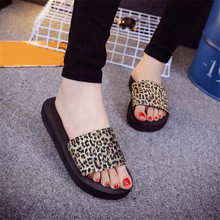 2016 Summer Sandals Women Fashion leopard print Platform Wedges Sandals Female Shoes Sandals Slipper indoor & outdoor Hot Sale