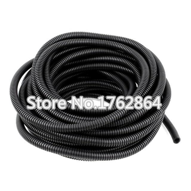 Tuyau ondulé en plastique PE 2 m/Lot, AD10, câble à fibres optiques pour protéger le tuyau ondulé, manchon de gaine de câble