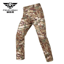 Mens Shark Skin Soft Shell Outdoors Tactical Military Camouflage Pants Men Waterproof Windproof Thermal Camo Hunt Fleece