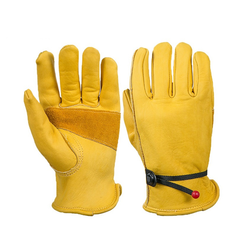 High Quality Waterproof Work Gloves Safety Garden Gloves Leather Welding Protective for  ...