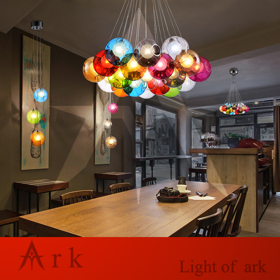ARK LIGHT LOFT american old furniture nostalgic vintage Bubble Ball LED Pendant for Balcony aisle hallway DINING ROOM