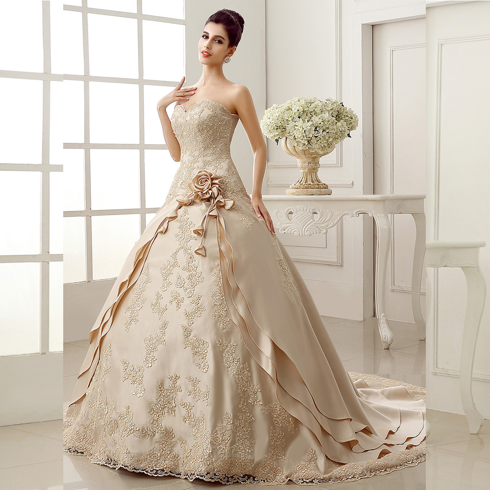Online Get Cheap Flower Bridal Dress Aliexpress Com Alibaba Group