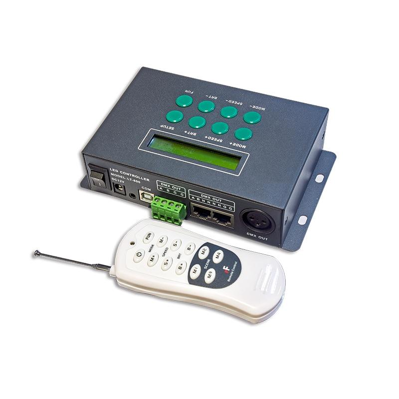 Новый LTECH светодиодный DMX контроллер мастер 580 Режим РФ удаленные 250 кбит/с 512 канала 170 пикселей RGB Светодиодная лента контроллер ЖК дисплей Э