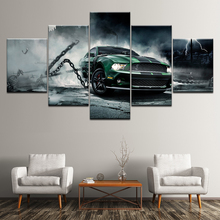 Canvas Painting Cool car water effect graphics 5 Pieces Wall Art Modular Wallpapers Poster Print living room Home Decor